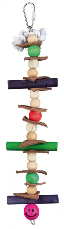 Игрушка для птиц - TRIXIE Wooden toy with leather and pearls, 28 см