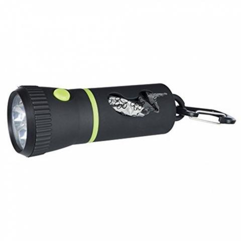 Контейнер для сбора мусора с фонариком - TRIXIE LED Lamp with Dispenser for rolled bags, 17 см