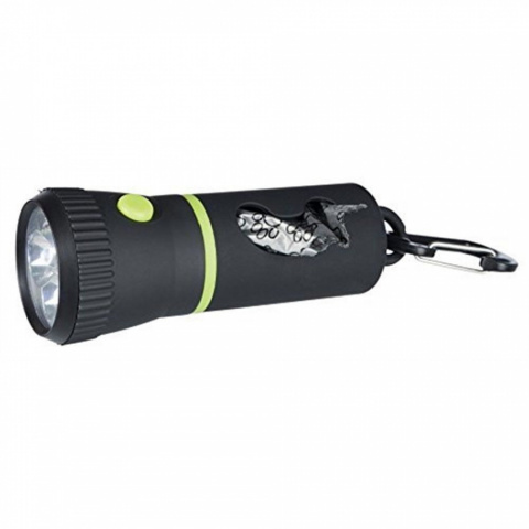 Maisiņu konteiners ar lukturi – TRIXIE LED Lamp with Dispenser for rolled bags, 17 cm title=