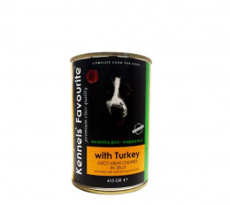 Konservi suņiem - Kennels` Favourite Canned Dog, ar tītaru, 415g