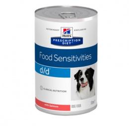 Ветеринарные консервы для собак - Hill's Canine d/d Salmon, 370 г