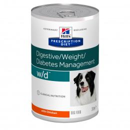 Ветеринарные консервы для собак - Hills Canine W/D, 370 гр