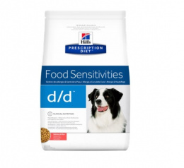 Ветеринарный корм для собак - Hill's Canine d/d Salmon&Rice, 2 кг