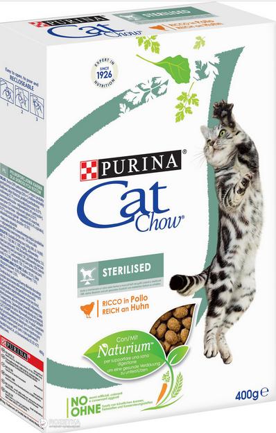 Barība kaķiem - Cat Chow Sterilized, 0.4 kg