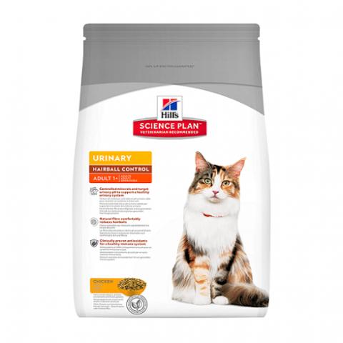 Barība kaķiem - Hill's Feline Urinary Health Hairball Control, 1.5kg