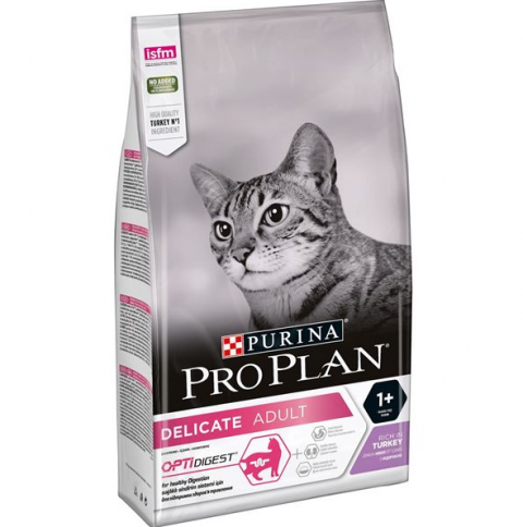 Корм для кошек - Pro Plan DELICATE Cat Turkey DIGEST, 1.5 кг