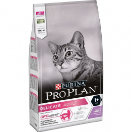 Корм для кошек - Pro Plan DELICATE Cat Turkey DIGEST, 10 кг