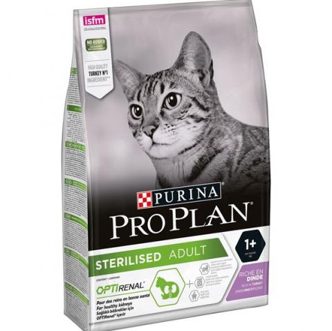 Корм для кошек - Pro Plan STERILISED Cat Turkey RENAL, 1.5 кг