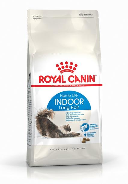 Barība kaķiem - Royal Canin Feline Indoor Long Hair, 0,4 kg title=
