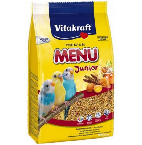 Корм для птиц - Vitakraft Menu Kids for Budgies, 500 г title=