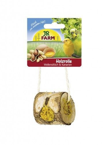 Gardums putniem - JR FARM Birds Wooden Roll for Budgerigar & Canaries, 150 g