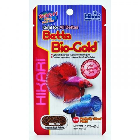 Barība gailīšiem - Hikari Tropical Betta Bio-Gold, 5g title=