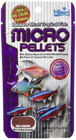 Barība zivīm - Hikari Tropical Micro Pellets, 22 g