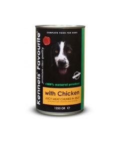 Konservi suņiem - Kennels` Favourite Canned Dog Chicken 1250 g