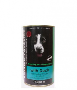 Konservi suņiem - Kennels` Favourite Canned Dog Duck, 415 g