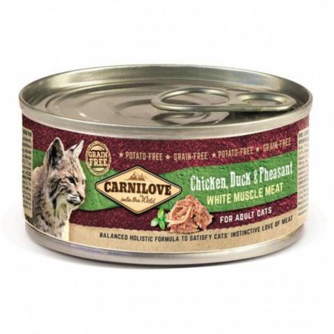 Консервы для кошек - CARNILOVE Wild Meat Chicken, Duck & Pheasant, 100g