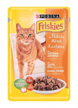 Консервы для кошек - Friskies Alupouch, с курицей, уткой и овощами 100 gr