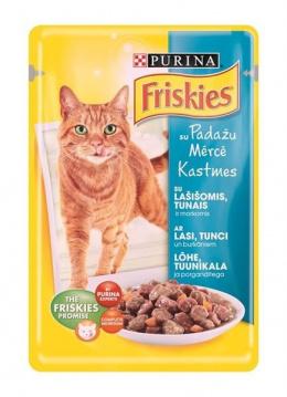 Консервы для кошек - Friskies Alupouch, с лососем, тунцом и морковью, 100 gr