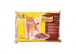 Konservi kaķiem - Friskies Gaļas izlase mērcē  4x100g
