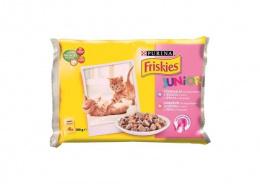 Konservi kaķiem - Friskies konservi kaķēniem mērcē 4*100g