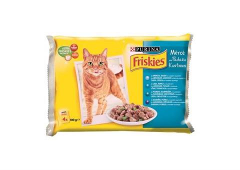 Konservi kaķiem - Friskies Zivju izlase mērcē 4x100g