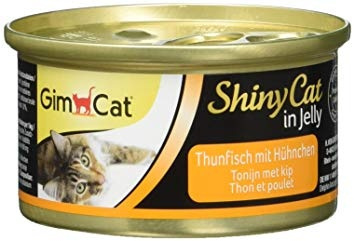 Konservi kaķiem - GimCat ShinyCat Tuna and Chicken, 70 g title=