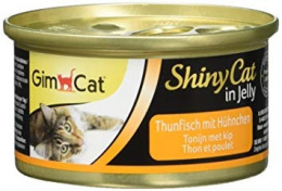Консервы для кошек - GimCat ShinyCat Tuna and Chicken, 70 г