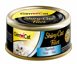 Konservi kaķiem - GimCat ShinyCat Filet Tuna, 70g