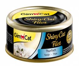Консервы для кошек - GimCat ShinyCat Filet Tuna, 70g