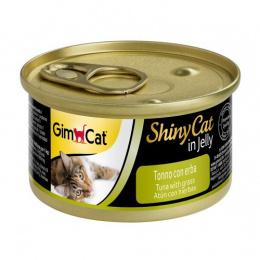 Konservi kaķiem - GimCat ShinyCat Tuna and Catgrass, 70 g