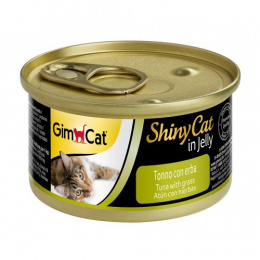 Консервы для кошек - GimCat ShinyCat Tuna and Catgrass, 70 г
