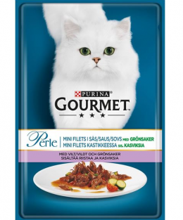 Konservi kaķiem - Gourmet Perle ar medījuma gaļu & tomātiem, 85 g