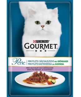 Konservi kaķiem - Gourmet Perle ar medījuma gaļu & tomātiem 85g