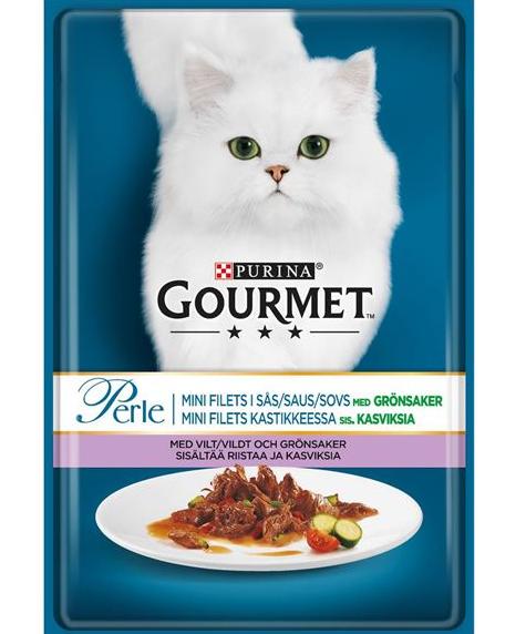 Консервы для кошек - Gourmet Perle дичь с томатами, 85 г