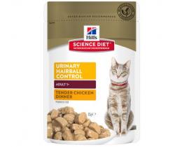Консервы для кошек - Hill's Feline Urinary Health Hairball Control chicken, 85g