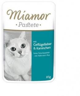 Konservi kaķiem - Miamor Pastete (pouch) Poultry Liver&Rabbit, 85 g