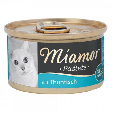 Konservi kaķiem - Miamor Pastete Tuna, 85 g title=