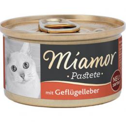 Konservi kaķiem - Miamor Pastete Chicken & liver, ar vistu an aknām,  85 g