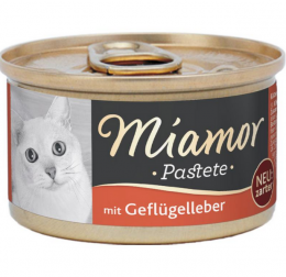 Konservi kaķiem - Miamor Pastete Chicken and liver, 85 g