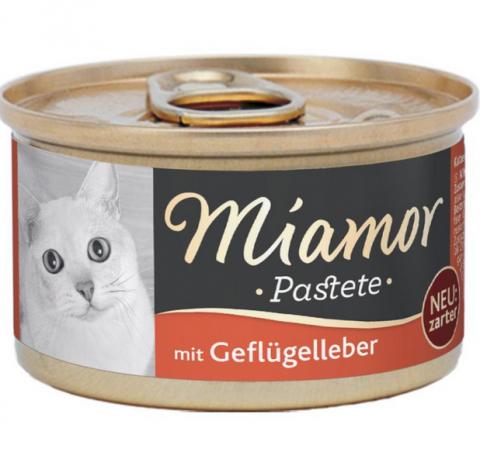 Консервы для кошек - Miamor Pastete Chicken and liver, 85 г title=