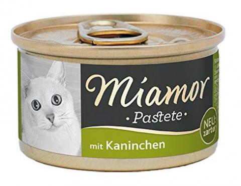 Konservi kaķiem - Miamor Pastete Rabbit, 85 g title=