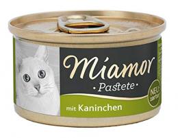 Konservi kaķiem - Miamor Pastete Rabbit, ar trusi, 85g
