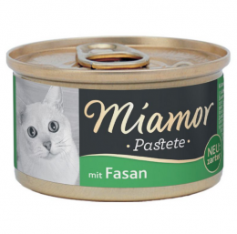 Konservi kaķiem - Miamor Pastete Pheasant, ar fazānu, 85 g