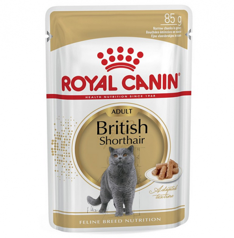 Konservi kaķiem - Royal Canin Feline British Shorthair, 85 g