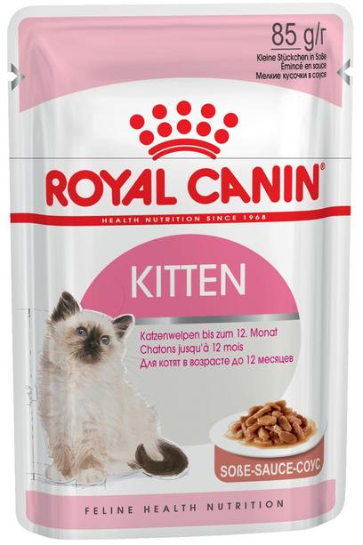 Konservi kaķēniem - Royal Canin Feline Kitten Instinctive (mērcē), 85 g title=