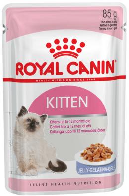 Konservi kaķēniem - Royal Canin Feline Kitten Instinctive (želejā), 85 g