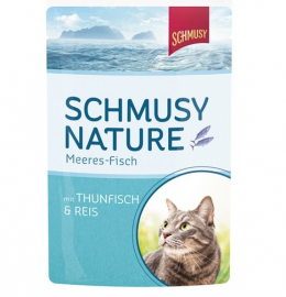 Konservi kaķiem - Schmusy Fish Tuna and rice, 100 g