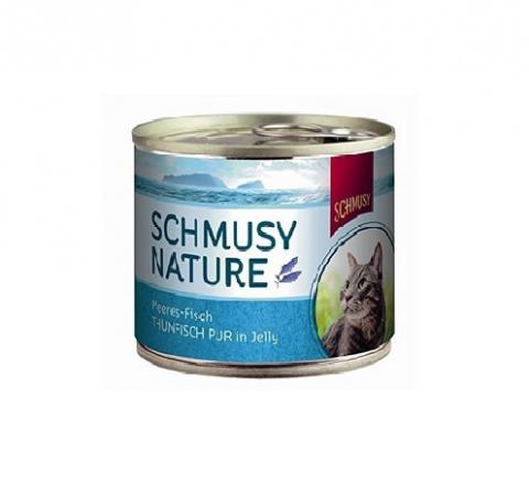 Konservi kaķiem - Schmusy Nature tuncis želejā, 185 g