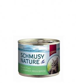 Konservi kaķiem - Schmusy Nature Fish tuncis ar dārzeņiem un rīsiem želejā, 185 g