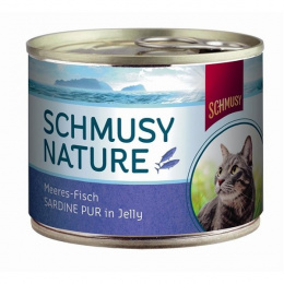 Консервы для кошек - Schmusy Nature Сардина в желе 185гр.
